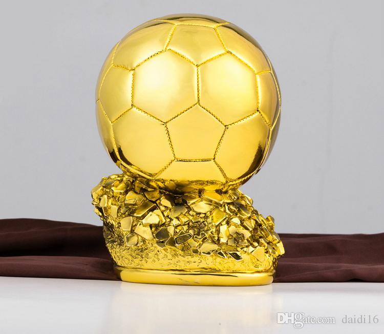 New Ballon d'Or Trophy Football Golden Ball Award ، أفضل لاعب في العالم ، لاعبو كرة القدم في العالم ، تروفي كالتشيو ، الحرفية التذكارية لديكور المنزل