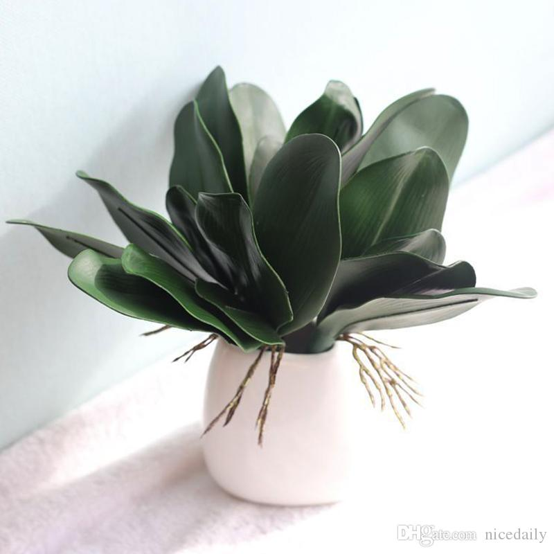 2020 Real Touch Phalaenopsis Leaf Artificial Plant Leaf Decorative Flowers Auxiliary Material Flower Decoration Orchid Leaves From Nicedaily 0 91 Dhgate Com