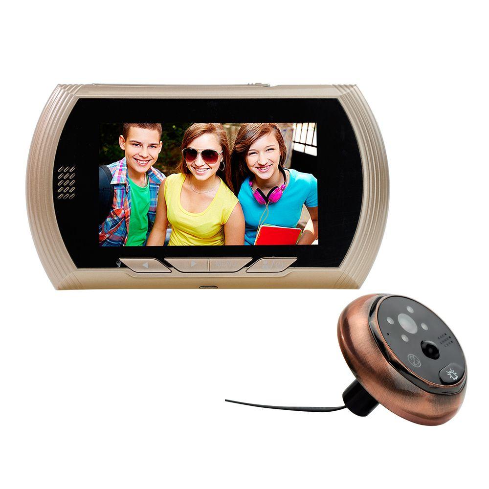 4.3 inç monitör akıllı video kapı zili kablosuz wifi peephole kapı zili kamera hd 720 p ir gece görüş kamera pir motion algılama
