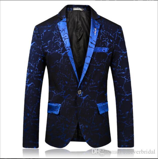 Novo Design Homens Jaquetas Casuais Com Lapela Entalhada Um Botão Três Cores Ternos Bonitos Blazers Voltar Ventilação Casacos de Festa de Casamento Para homens