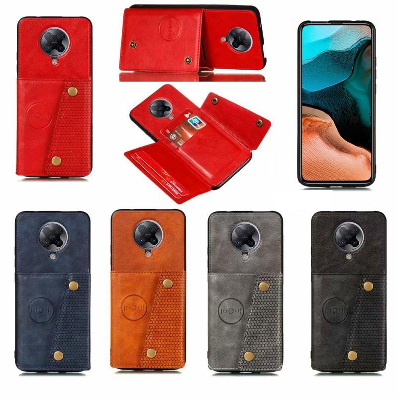 Cuoio Armatura di caso per Xiaomi redmi K30 pro di lusso della cassa di credito di affari del supporto di carta della copertura di vibrazione redmi K30 Pro Coque
