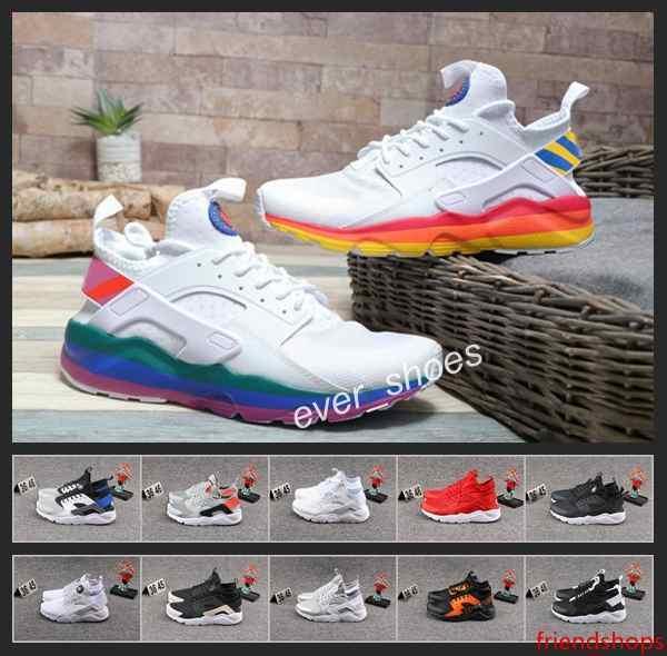New Ai Huarache Mesh-Mode Laufschuhe Damen Herren Regenbogen Huaraches Triple-Weiß Schwarz Designer Hurache Turnschuhe Huraches Chaussures