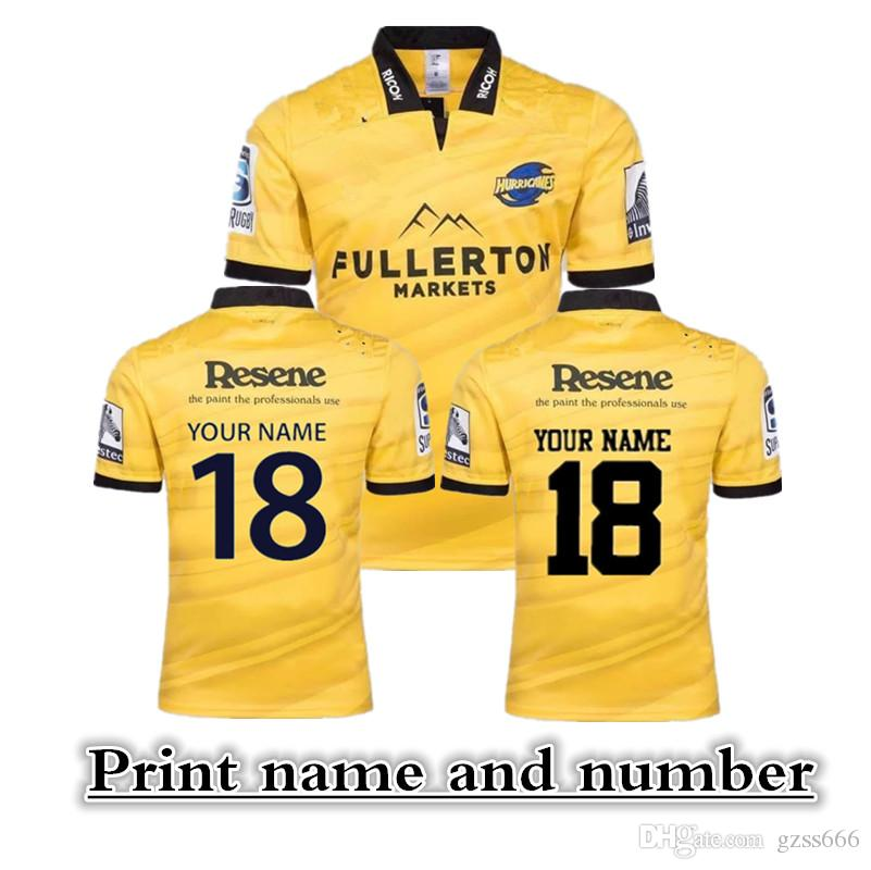 (può stampare) Super Rugby Jerseys 18-19 Hurricanes maglia a casa via rugby Jerseys singoletto Hurricanes Training Shirt Hooded Rugby Sweat