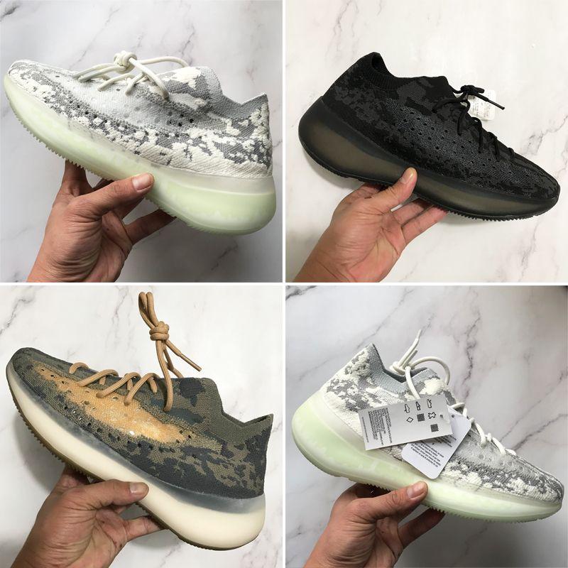 أعلى جودة الاحذية 380 v3 الغريبة ضباب جريئة السود الرجال النساء 3 متر عاكس الأحذية الساخنة الرياضة الأزياء حذاء مع مربع