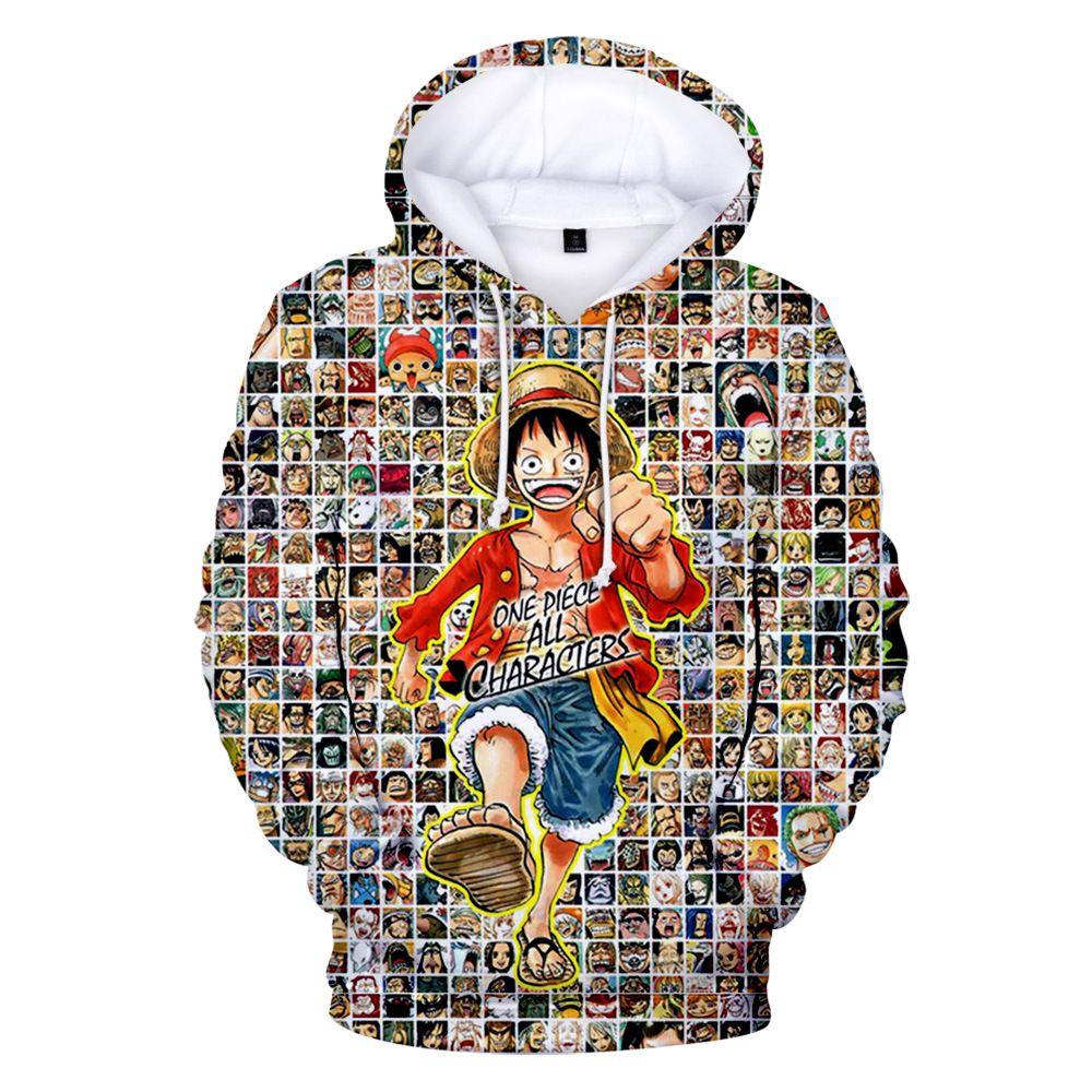 Japan Anime One Piece 3D Hoodies Sweatshirts Männer Monkey D. Ruffy Roronoa Zoro Nami Lysop Sanji Nico Robin Franky Cosplay