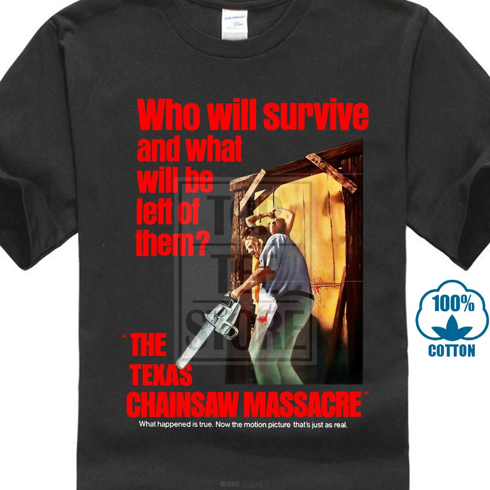O Massacre Texas Chainsaw Movie Poster 1974 Camiseta Preto Todos Os Tamanhos S 5xl