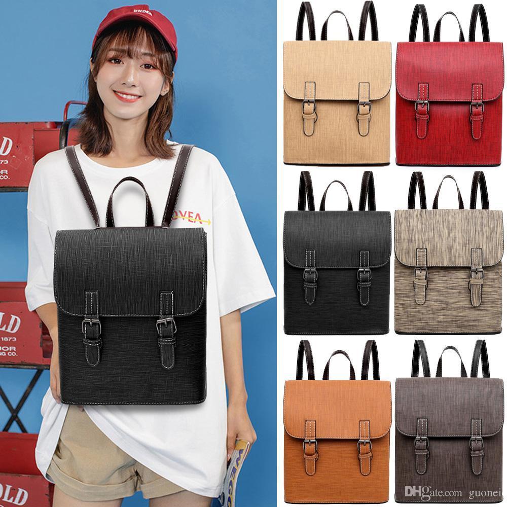 حقائب مصمم للمرأة الظهر الظهر فو حقيبة جلدية الكتف حقيبة المدرسة حقيبة يد