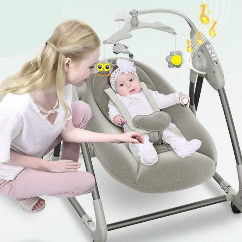 Electric Baby Rocking Chair Home Baby Recliner Cradle Bed with To Sleep Parents Coax Assistant Newborn Soothing Chair