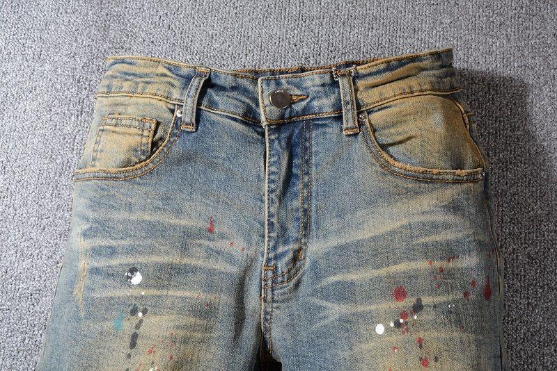Новый стиль Mens Designer Jeans Letter Printed Spray Paint Джинсовые штаны Fashion Club Одежда для Hip Мужской Бесплатная доставка Hop Skinny Jeans
