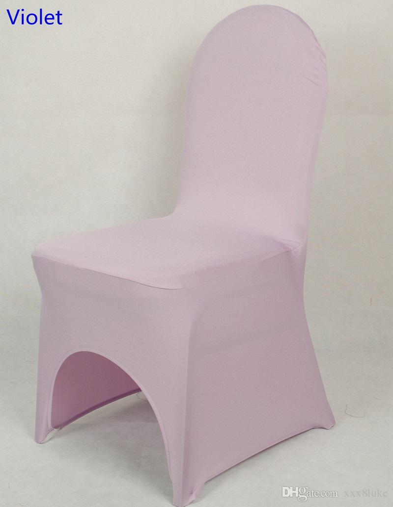 Colour Violet lycra universal chair cover for wedding decoration spandex chair cover on sale banquet chair arch front open