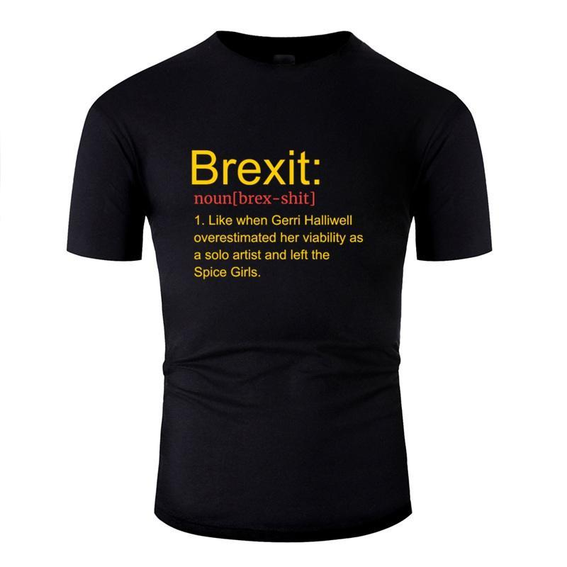 Brexit divertente Remain Eu No Deal Design maglietta anti-rughe Comics magliette White Male Camisas shirt Pop Top Tee