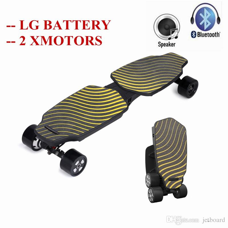 Foldable 4 Wheels Electric Skateboard Hoverboard Scooter Dual Motors Longboard New Electric Skate board for Adults Children