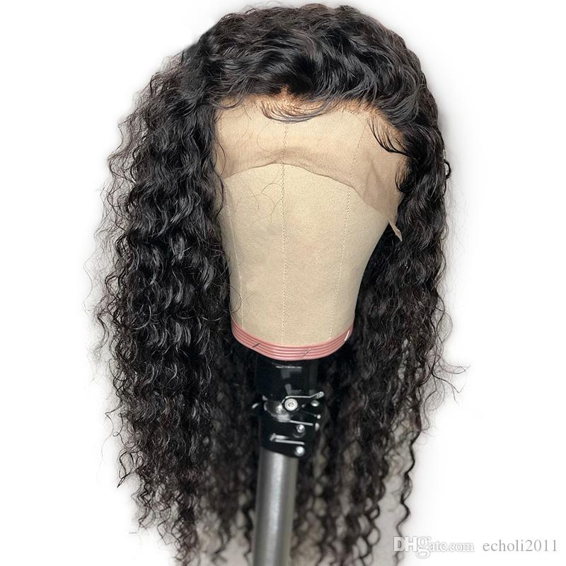 Water Wave HD 360 parrucca frontale in pizzo Remy Remy parrucche brasiliane parrucche umane con i capelli del bambino per le donne precipitate nodi candeggiati 130% densità diva1