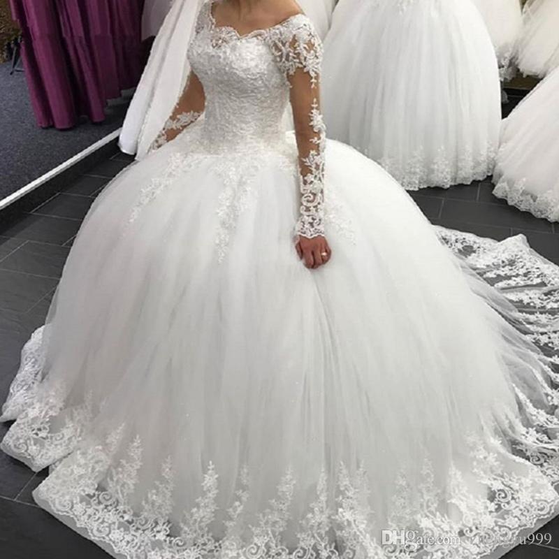Illusion Long Sleeves Beach Wedding Dresses Vintage Lace Top Chiffon Skirts Boho Bridal Gowns Sweep Train Brides Dress