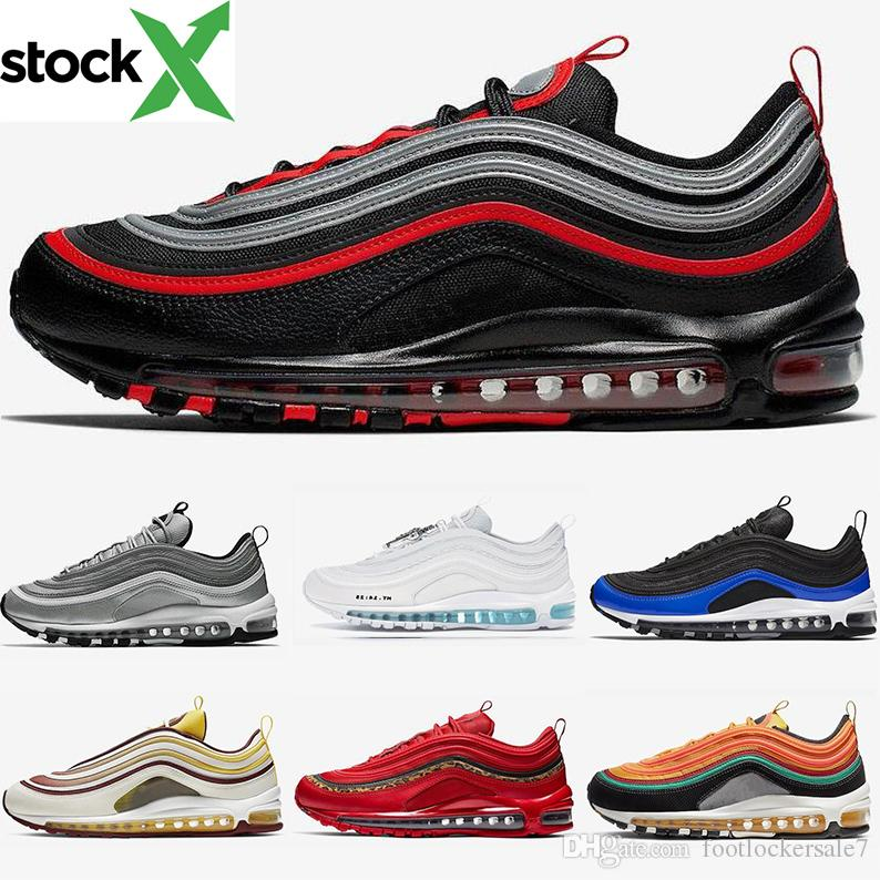 2020 Bred 97 Team Red South Beach MSCHF X INRI Jesus Future Mens Running Shoes 97s Trainers Womens Designer Sports Sneakers Size 36 46 Shoes Sports