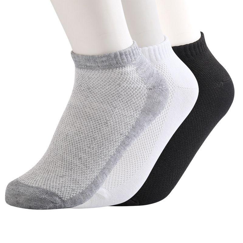 Solid Color Mesh Mens Socks Sports Casual Men Socks Slippers Summer Breathable Comfortable Fashion Designer Underwear