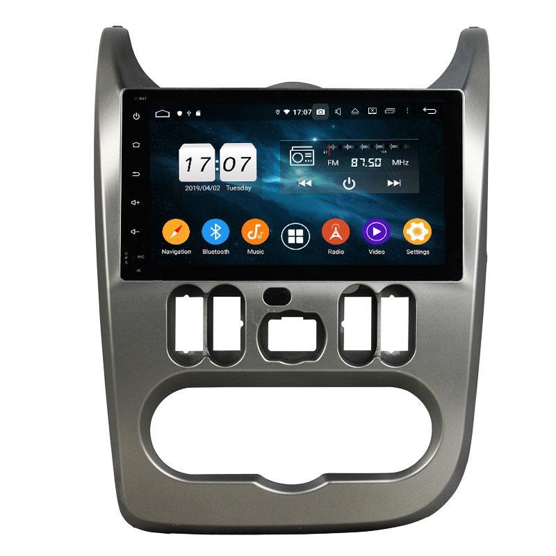 PX5 8 noyau Android 9.0 4G 32G stéréo voiture DVD GPS pour Renault Logan Sandero Duster 2015-2016