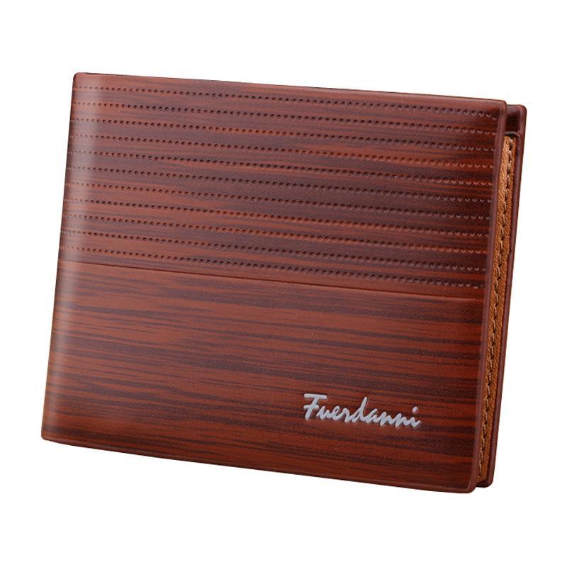 Luxus-Designer Männer Geldbörsen Retro-Leder-Mappe PU Normallack-Kurzgeldbörse Kreditkarte-Beutel Geldbörse Portomonee Carteria
