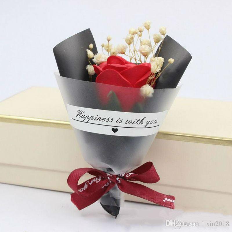파티 호주 발렌타인 데이 웨딩 비누 장미 별 말린 꽃 ins 미니 작은 꽃다발 사진 촬영 손 선물