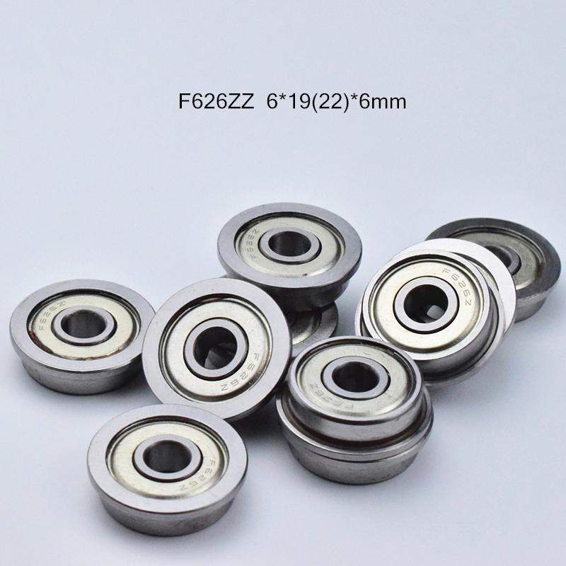 F626 플랜지 베어링 무료 배송 626 F626 F626Z의 F626ZZ 6 * 1922 * 6mm 크롬 강철 깊은 홈 베어링