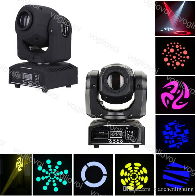 Moving Head Lights LED 7colors 10W 30W 60W Beam Pattern DMX512 Voice Activated For Stage Lighting DJ Effect Lights DHL