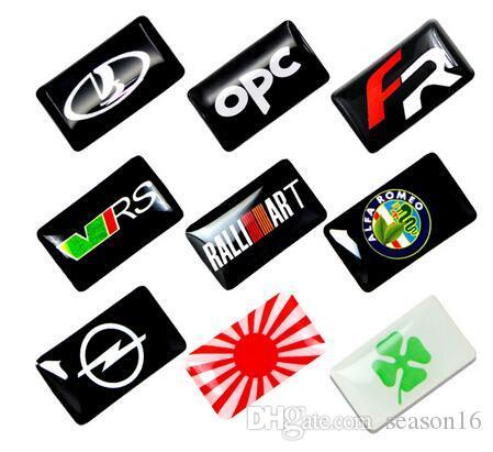 Yeni Araba styling küçük Dekoratif Rozet Hub caps opel opc renault alfa lada mazda için Direksiyon araba Amblem Sticker