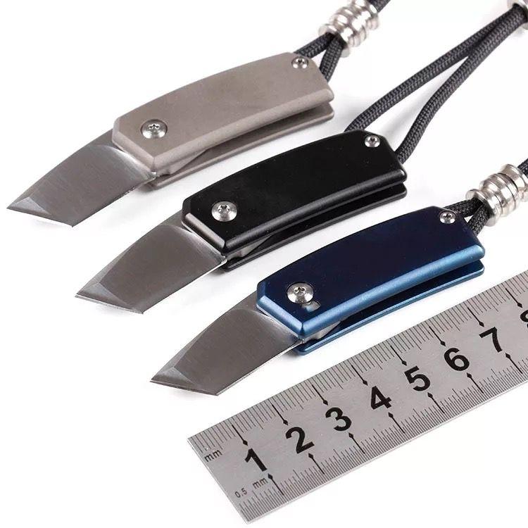 Mini Multi Function Screwdriver Knife D2 Blade Titanium Handle Outdoor Portable Self Defense Survival EDC Tools Kit Tactical Folding Knives