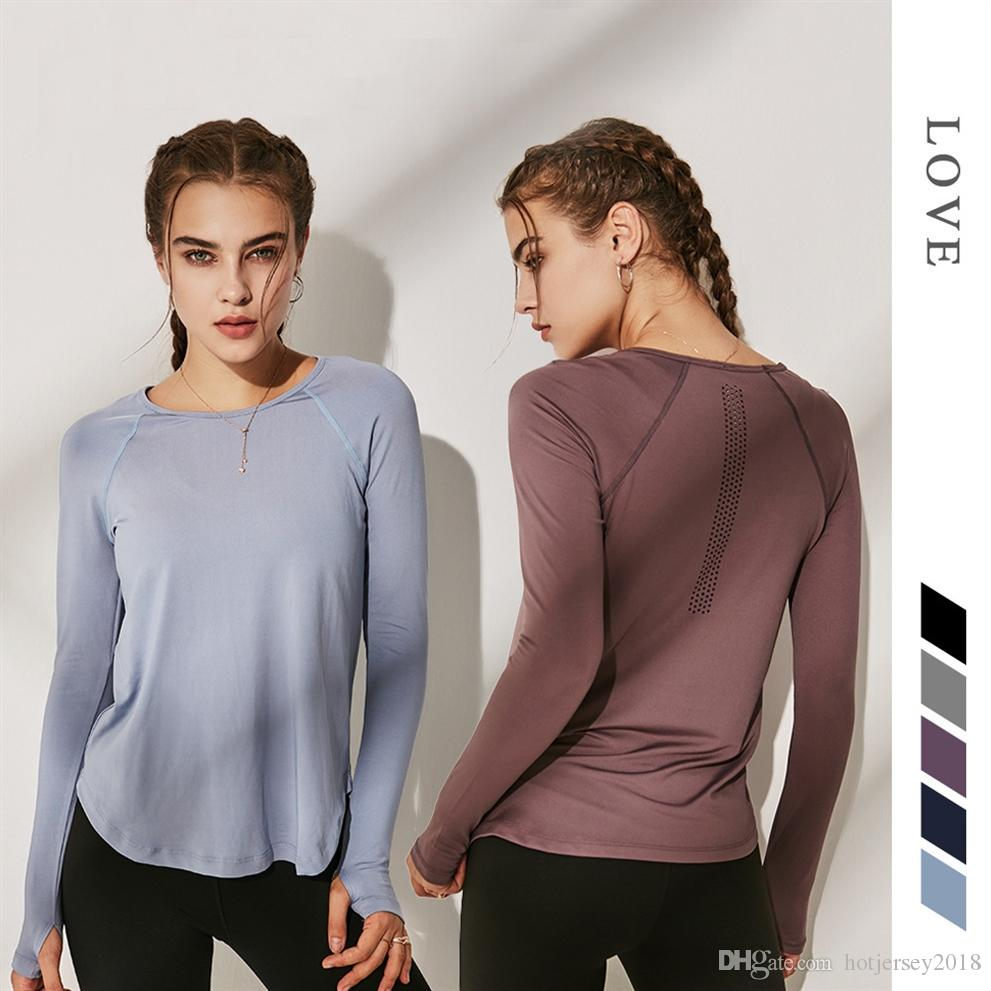 great look new authentic purchase cheap 2019 Women Fitness Shirt Slim Yoga Top Dry Fit Sport Shirt Women Fitness  Clothes Long Sleeve Gym Workout Top Running Sportswear #265386 From ...