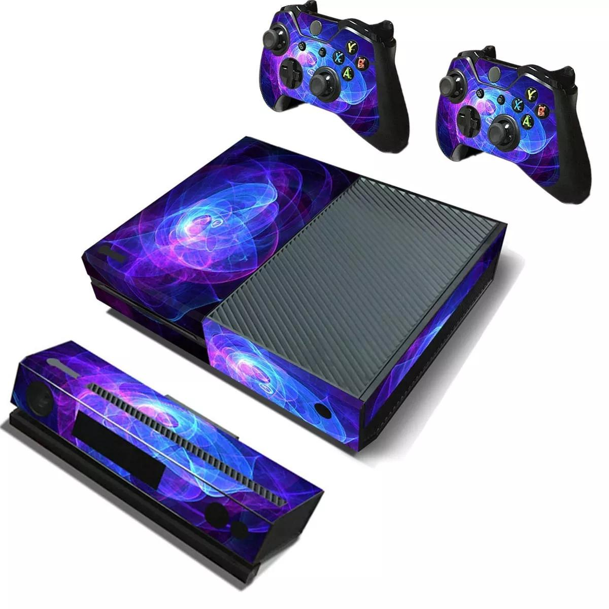 Mor Koruyucu Vinil Etiket Cilt Etiketler Wrap Kapak For Xbox One Oyun Konsolu Oyun Denetleyici Kinect