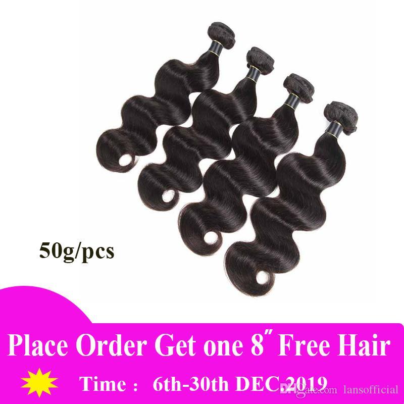 Cheveux Weave Bundles Brésil Malaisie vague de corps de Remy Hair Extensions 3/4/5/6 Pcs Couleur naturelle 10-26 pouces Brésilien Cheveux Vierge