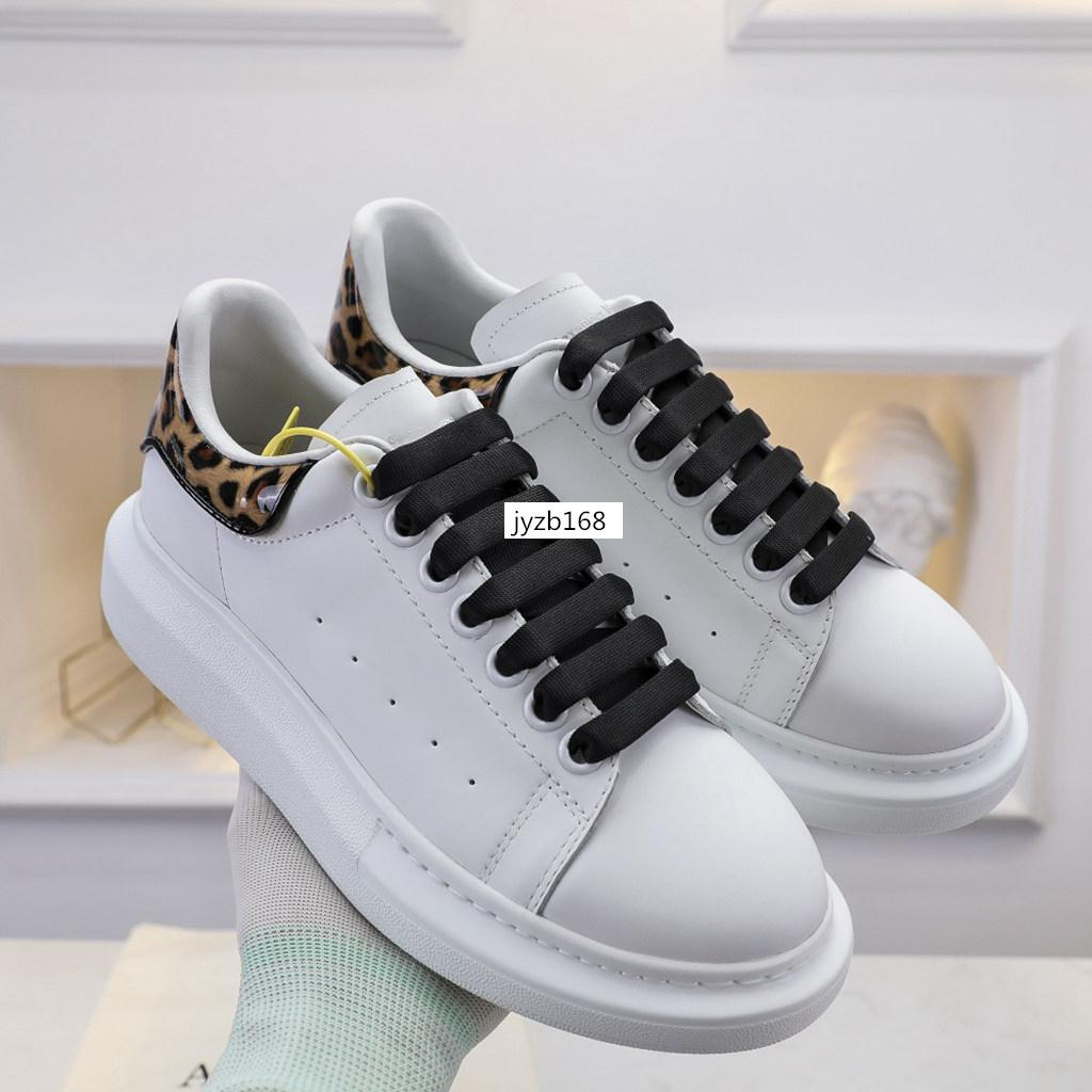 With box Mens Womens White Black Reflective 3M fashion ball dress casual shoes Leather Golden shoe tail Platform Shoes 7