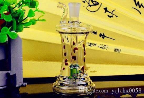 en forma de olla rayas (3) botella de agua bongs de vidrio al por mayor de la hornilla de aceite Pipas de agua de cristal plataformas petrolíferas más totalmente gratis