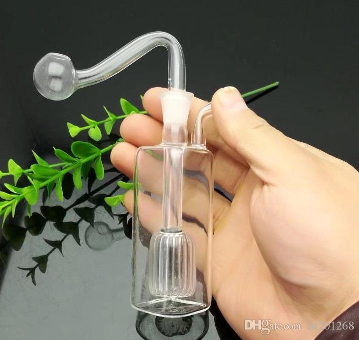 tubo quadrado Mini-garrafa de água de vidro bongs vidro grosso queimador de óleo tubulações de água de vidro Plataformas de petróleo fumadores Rigs