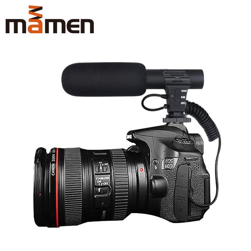 New arrivel 3.5mm Digital Talk Video Recording Microphone for Interview Hifi HD Sound Mic Microphone SLR DSLR Battery Camera Microphone