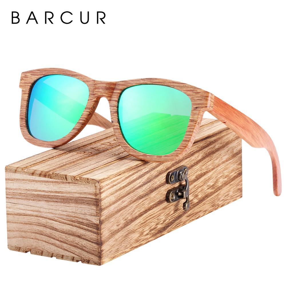BARCUR Natural Madeira Sunglasses Men óculos polarizados mulheres que viajam Vintage óculos oculos de sol CY200520