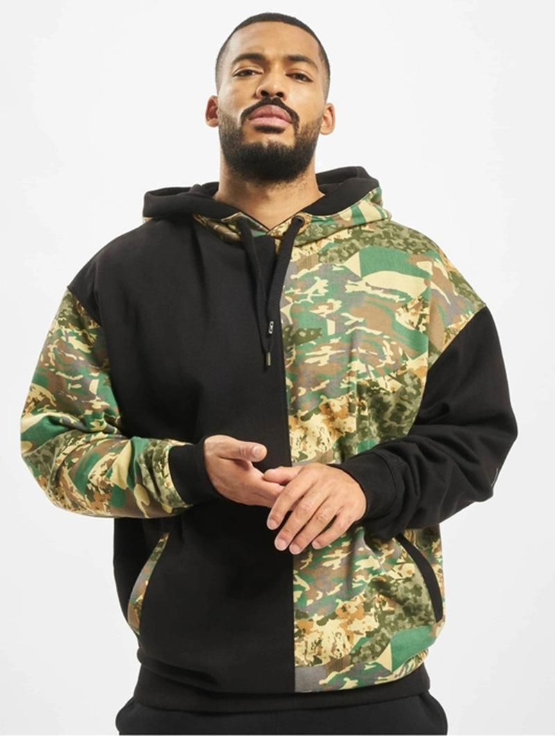 Solid Designer Couleur Hoodies manches longues Pull Homme Automne Vêtements Camouflage Imprimer Casaual Vêtements de sport pour hommes