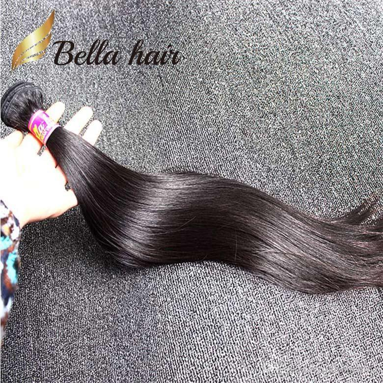 Unprocessed Indian Straight Hair Natural Color Double Weft Hair Weaves 2 Bundles 8-30inch Human Hair Extension Free Shipping