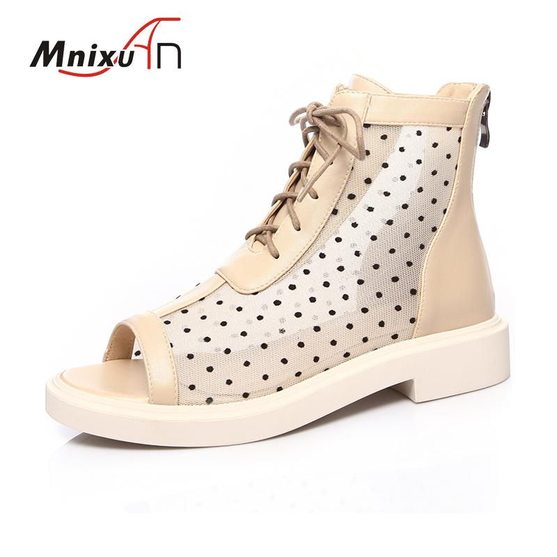 أحذية صيفية الموضة نساء الصنادل منصة الكاحل أحذية الكاحل 2020 زقزقة إصبع قدم منتصف chunky حذاء أسود كبير مقاس 34-43
