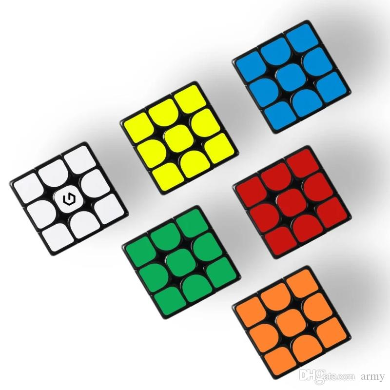 الأصلي youpin giiker m3 المكعب المغناطيسي 3x3x3 حية اللون ساحة ماجيك مكعب لغز تعليم العلوم مع تطبيق Giiker 3011427-B1