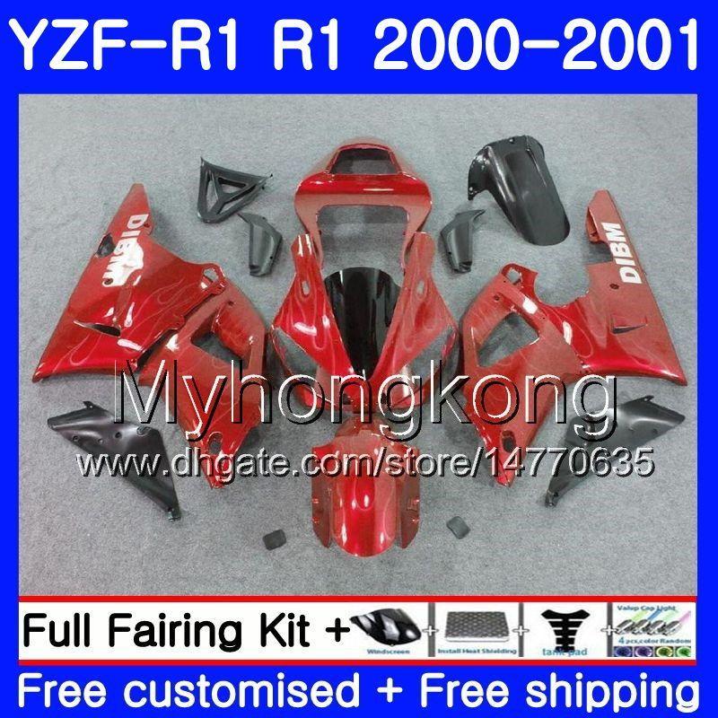 Silver flames Body For YAMAHA YZF 1000 YZF R 1 YZF-1000 YZFR1 00 01 Frame 236HM.25 YZF-R1 00 01 Bodywork YZF1000 YZF R1 2000 2001 Fairing