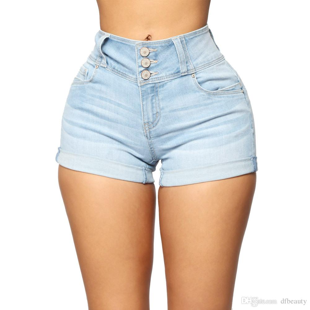 2021 REAL PHOTOS Womens Shorts Denim Jeans High Waist Night Club Ripped  Holes Cuffs Short Jeans Sexy Girls Fashion Slim Skinny Jeans From Dfbeauty,  $18.58 | DHgate.Com