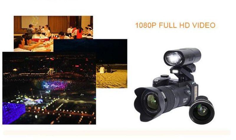 New 33MP D7200 Digital Camera HD Camcorder DSLR Camera Wide Angle Lens 24x Optical Zoom