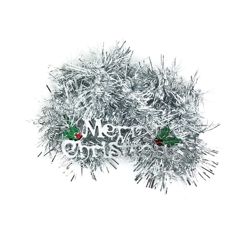 1Pc Рождество Мишура новогодняя елка ленты Толстая Коренастый Широкий Блестящая дерево Мишура Гирлянды С Рождеством Письма E