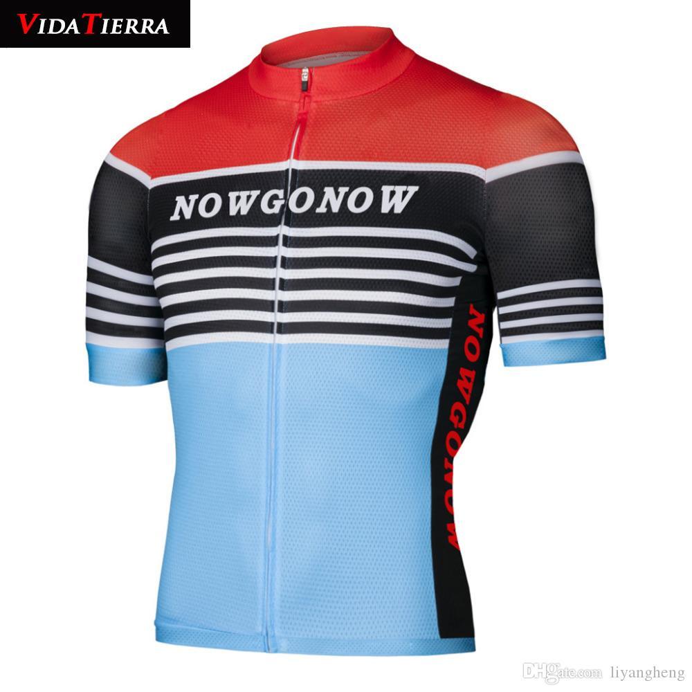 carretera VIDATIERRA 2019 hombres ciclo Jersey Retro Maillot ciclismo bicicleta camiseta del equipo Pro MTB encabeza chino camiseta de estilo en declive enfriar fascinante