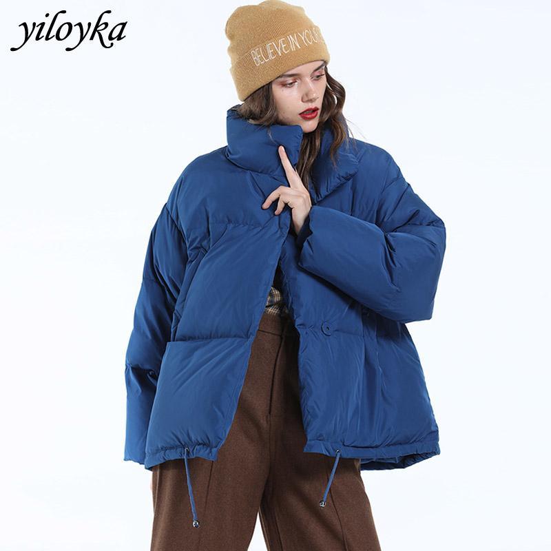 Autumn Winter Jacket Women Parkas Mujer 2019 Fashion Coat Loose Stand Collar Jacket Women Parka Warm Casual Plus Size Overcoat T190827