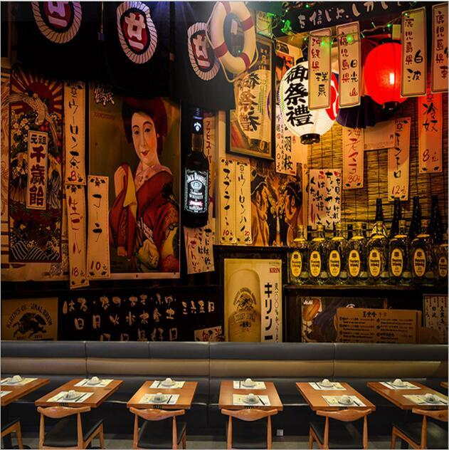 Japanese Restaurant Wall Covering Background Wallpapers 3d Sushi Restaurant Ramen Restaurant Japanese Street Scene Custom Mural Seamless Wide Wallpaper For Desktop Wide Wallpaper For Mobile From Cocosoly Top 21 68 Dhgate Com