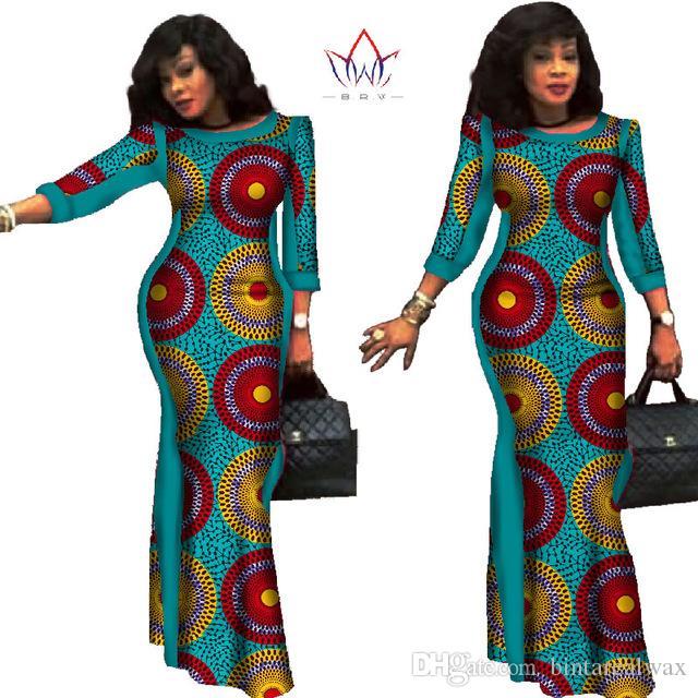 Бальные платья 2020 Новый стиль африканские платья для женщин Базен Riche Плюс Размер африканской печати воска 100% хлопок платья WY304