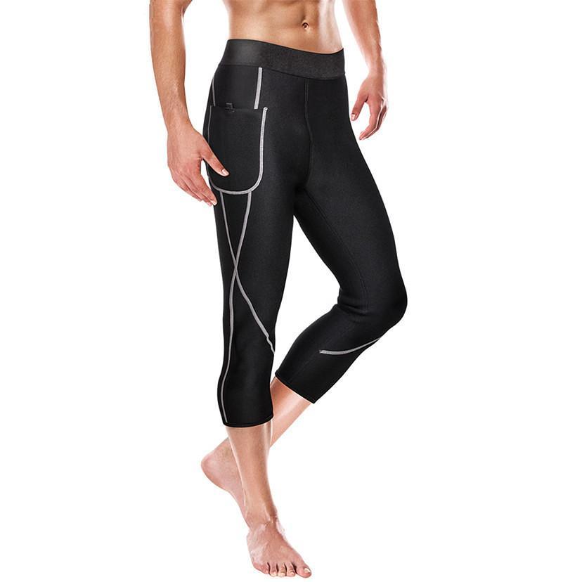 Yeni Erkekler Şekillendiriciler Zayıflama Pantolon Kısa Neopren Sauna Karın Fat Burner Bel Trainer Vücut Şekillendirici Sauna Suit Eşofman Capris Sweat