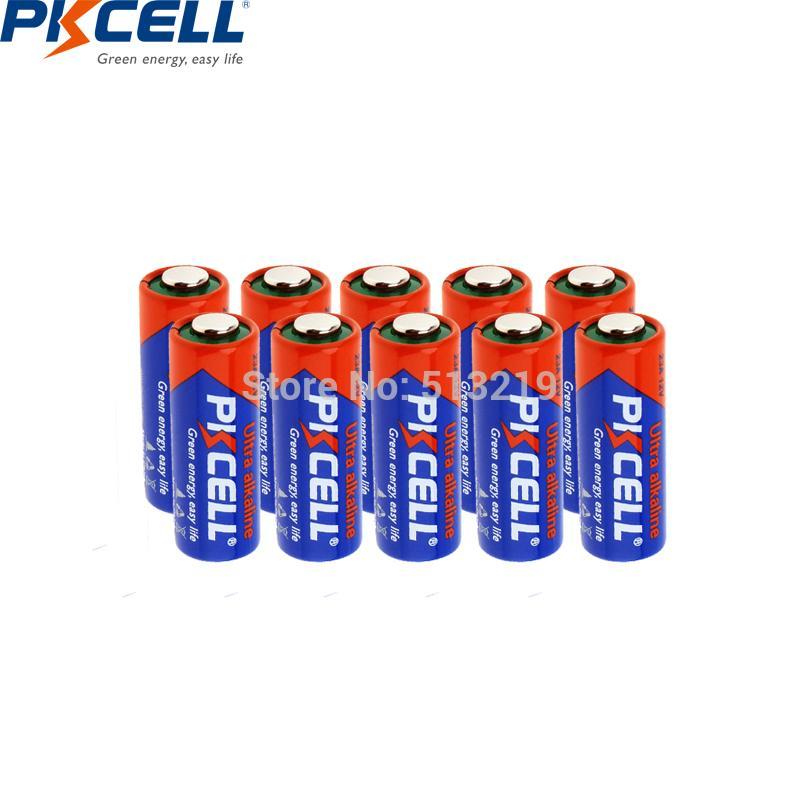 بطاريات أولي بطاريات جافة 10PCS PKCELL 12V البطارية 23 21/23 A23 E23A MN21 MS21 V23GA L1028 القلوية الابتدائي والبطارية الجافة