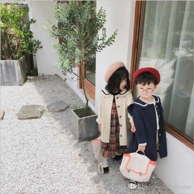 2019 Giacca da bambino per bambini di nuova arrivo Cappotto autunno manica lunga in cotone moda per bambini 1-6 anni